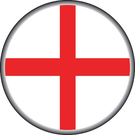 อector button of england badge Vector