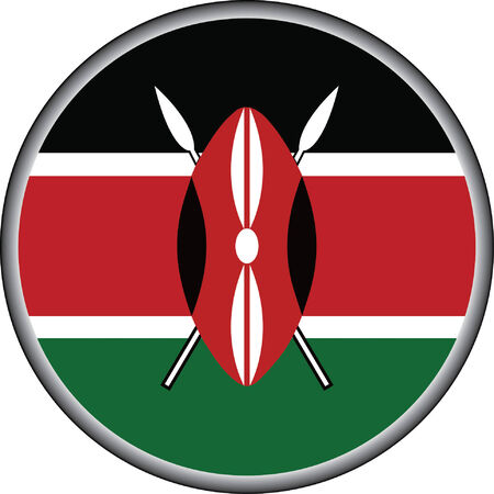 vector button of kenya flag badge Vector