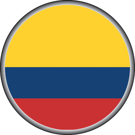 vector button of columbia flag badge Vector