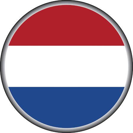 holanda bandera: vector bot�n de holanda bandera insignia