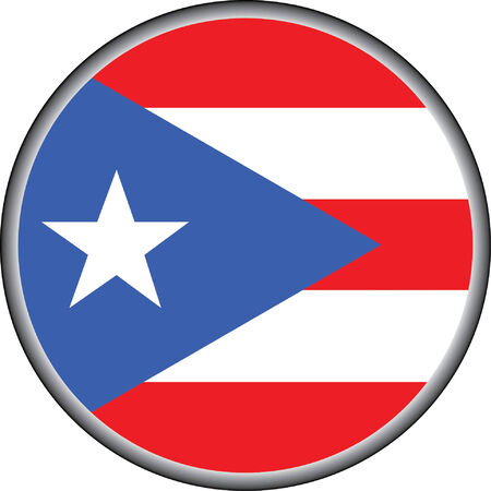 vector button of puerto rico flag badge
