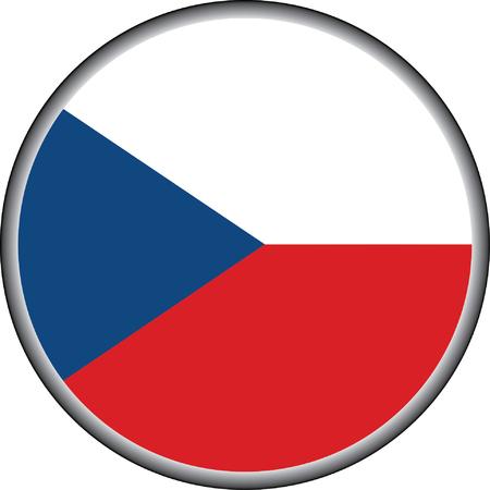 vector button of  czech republic flag badge Stock Vector - 30442328