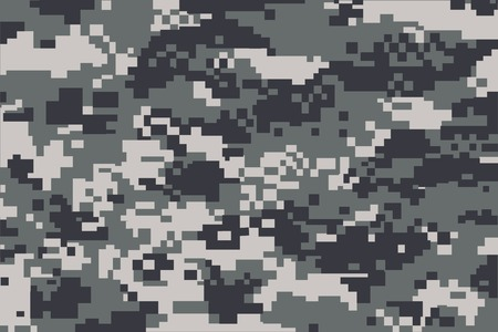 army background: vector background of grey digital camoflage pattern