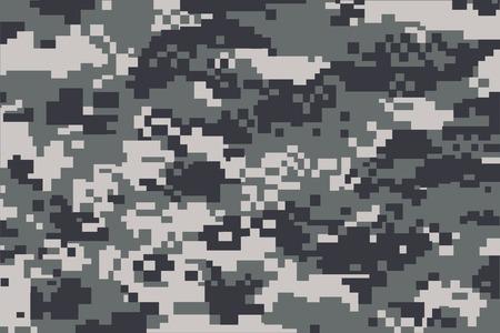 camuflaje: vector de fondo de patr�n de camuflaje digital de gris Vectores