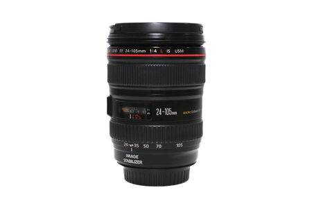 BANGKOK, THAILAND - OCTOBER 1, 2014: The new canon 24-105 F4L is usm lens in bangkok thailand on 1 October  2014