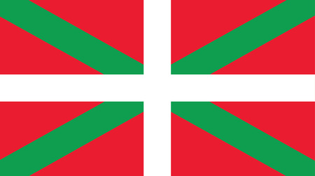 vector background of community of the basque country flag  イラスト・ベクター素材