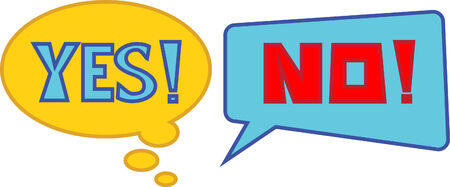vector of yes no quote bubble Vector