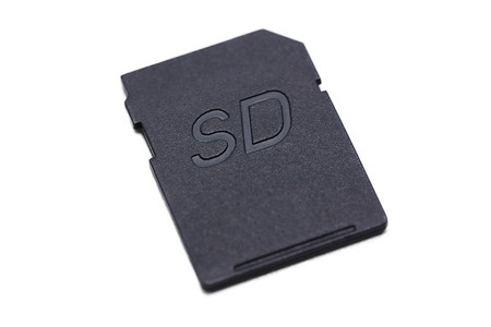 sd: isolated sd card on white background Stock Photo