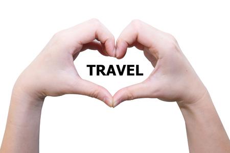 isolated female hand love travel photo