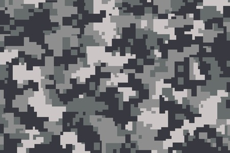 digital illustration: vector background of grey digital camoflage pattern