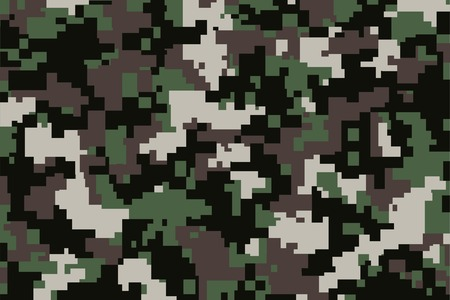 digitization: vector background of green digital camoflage pattern