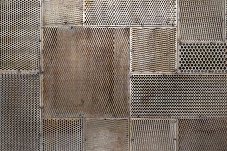 metal grid: grunge metal texture background Stock Photo