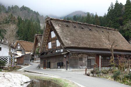 ogimachi: old house in historical japanese village shirakawago