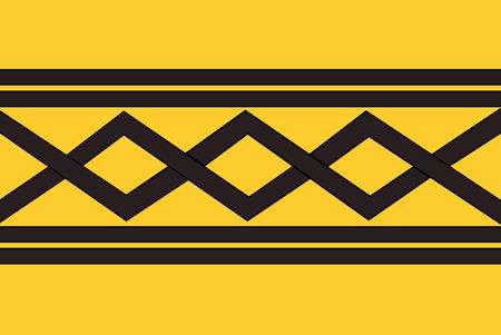 midlands: vector background of west midlands flag uk