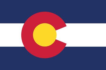 colorado flag: vector background of colorado state flag america Illustration