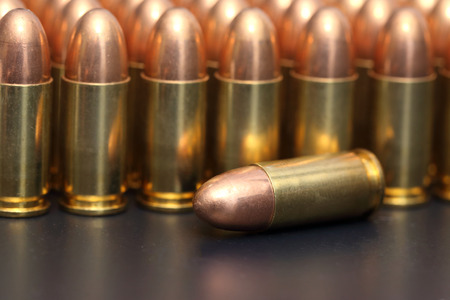 9mm: close up of 9mm bullet