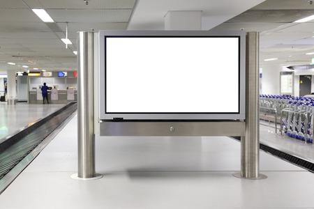 Blank LCD Screen display mock up banner in airport Stok Fotoğraf - 44046044