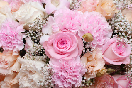 background of flower bouquets Stockfoto