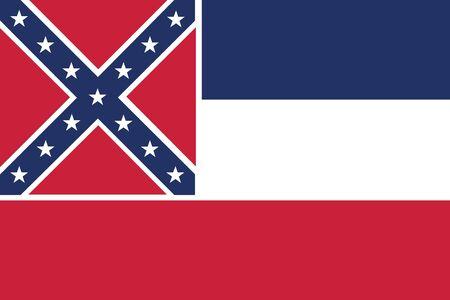 u.s. flag: vector background of mississippi flag