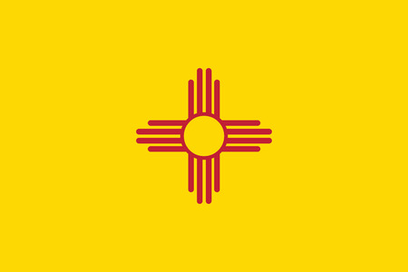 new mexico: vector background of new mexico state flag