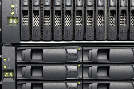 renderfarm: background of computer servers Stock Photo