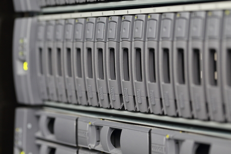 background of computer servers Stock Photo