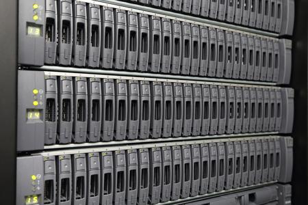 server room: background of computer servers Stock Photo