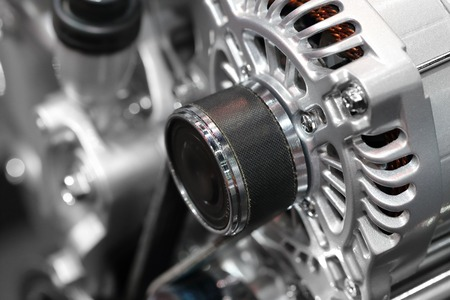closeup on part of the car engine 写真素材