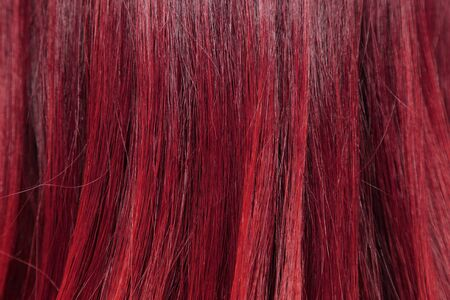 blonde streaks: close-up background of red hair color Stock Photo
