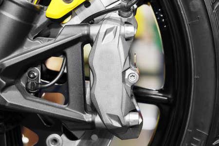 mileage: background of  brake on a wheel