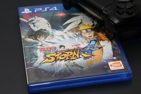 ultimate: BANGKOK, THAILAND - FEBRUARY 16, 2016: The New Naruto Shippuden Ultimate Ninja Storm 4 game on PS4 Console on February 16,2016. in Bangkok Thailand.