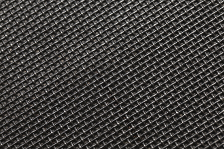 steel grille: abstract background of dark metal wired texture