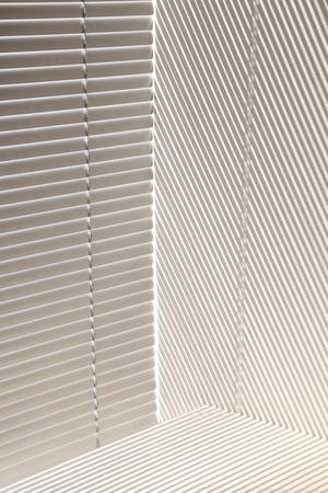 jalousie: abstract background of jalousie shadows on wall Stock Photo