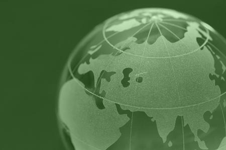 glass globe: closeup background of glass globe
