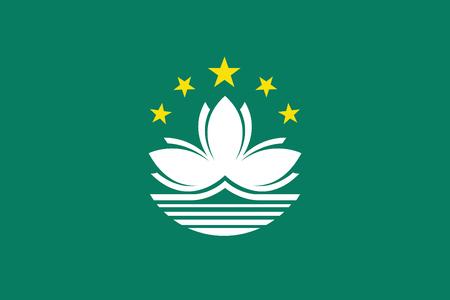 macau: vector background of macau flag