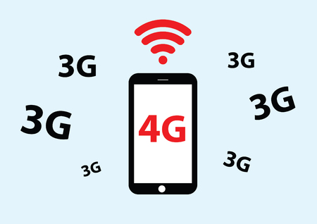 4g: vector of mobile phone with 4g Illustration