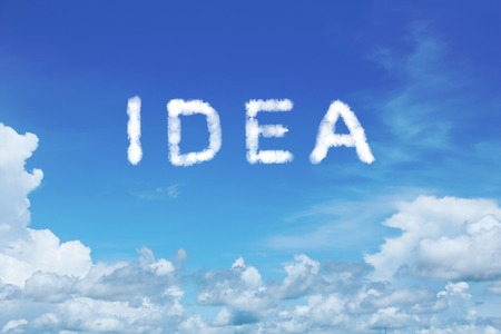 clear: background of clear blue sky with  idea cloud text