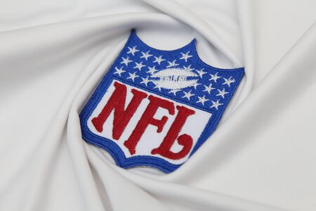 nfl: BANGKOK, THAILAND -JUNE 3, 2016: The  Logo of  NFL on the textile on June 3,2016 in Bangkok Thailand.
