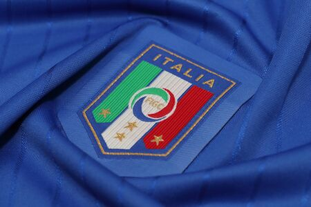 football jersey: BANGKOK, THAILAND - JUNE 29, 2016: The Italy National Football  Jersey on June 29,2016 in Bangkok Thailand. Editorial