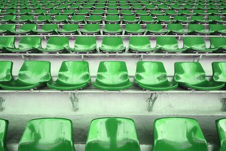 background of plastic seats in the stadium