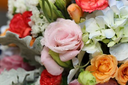 many thanks: background of flower bouquet