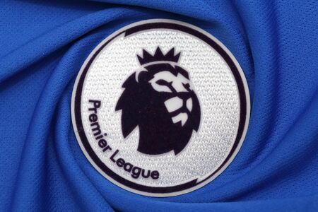 lionhead: BANGKOK, THAILAND - JULY 07, 2016: The Logo of  The New English Premier League on  the Jersey on July 07,2016 in Bangkok Thailand. Editorial