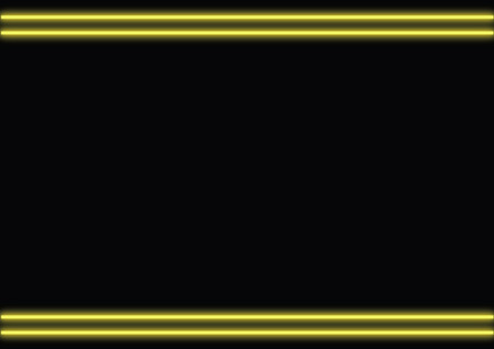 template of neon yellow light frame with blank copyspace