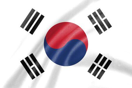 ripple: background of ripple south korea flag Stock Photo
