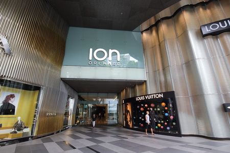 ion: SINGAPORE - SEPTEMBER17, 2016: View of ION Orchard shopping mall on Orchard Road  on September 17, 2016 in Singapore. Editorial