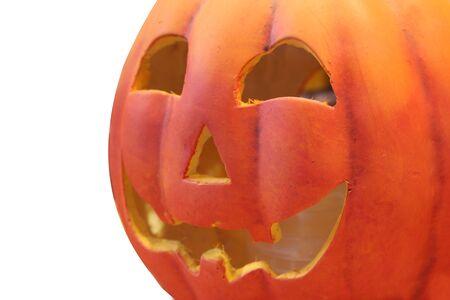 isolated halloween pumpkin on white background