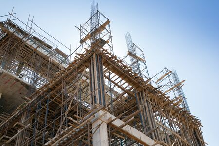 background of  building construction site
