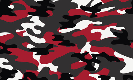 color conceal: vector background of soldier red camo pattern