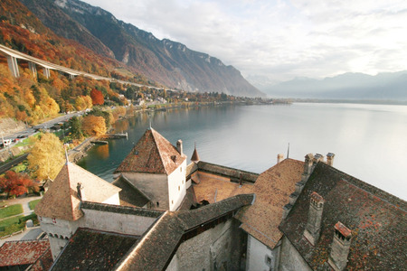 View from the Chillion Castle  in Switzerland