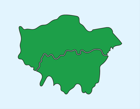 newham: Illustration Vector of London Map